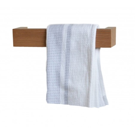 Wireworks Solid Oak Hand Towel Rail 28cm