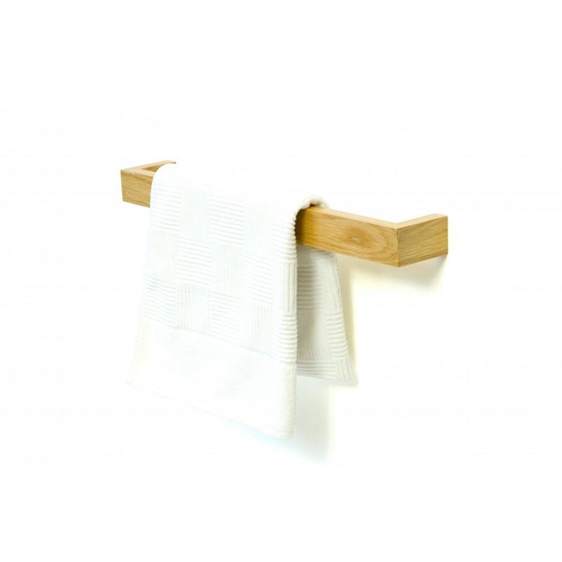 Wireworks Solid Oak Single Towel Rail 60cm