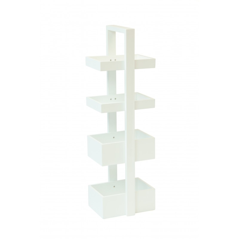 Wireworks White Caddy 4 Trays Storage