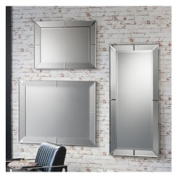 "Portobello Tall Rectangular Bevelled Mirror 53"" x 23.5"""