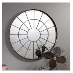 Forge Designer Mirror Industrial Window Style 39.5""