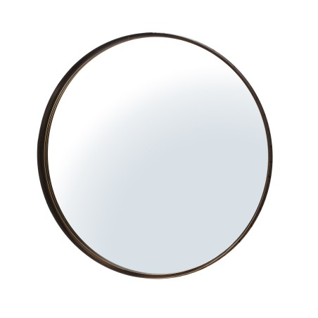 Finesse Contemporary Slender Circular Bronze Mirror 33""