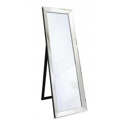 "Eleganza Timeless Black Frame Cheval Floor Mirror 61"" x 19"""