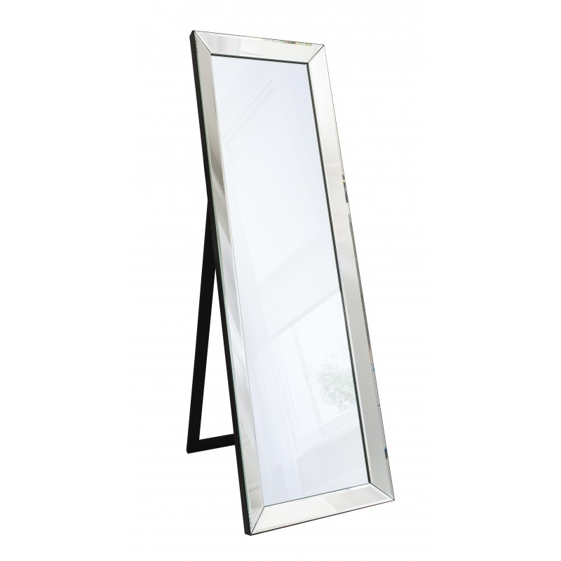 "Eleganza Timeless Black Frame Cheval Floor Mirror 61"" x 19"""