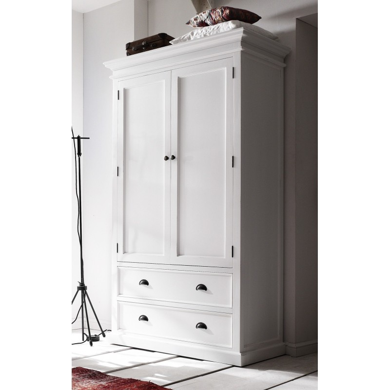 Halifax Painted Mahogany Double Wardrobe With Drawers