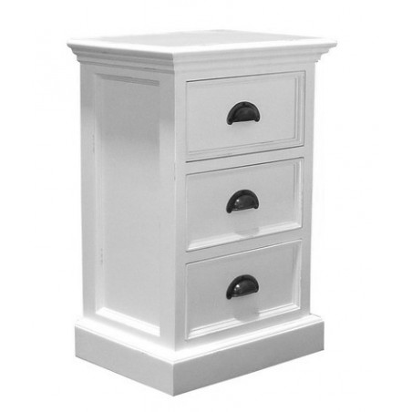 Halifax Painted Mahogany Small 3 Drawer Chest / Bedside Cabinet