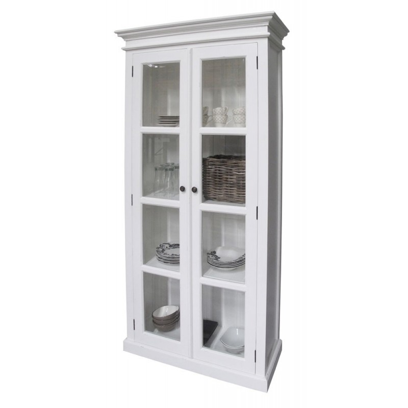 Halifax White Painted Mahogany Glazed Display Cabinet