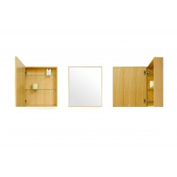 Wireworks Natural Oak Slimline Cabinet 550