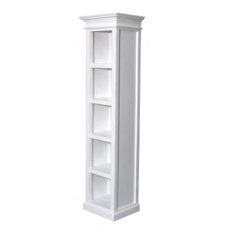 Halifax White Painted Mahogany Tall Narrow Bookcase