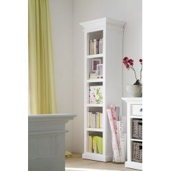 Halifax White Painted Mahogany Tall Narrow Bookcase