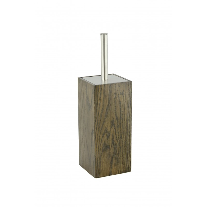 Wireworks Contemporary Dark Oak Toilet Brush Mezza
