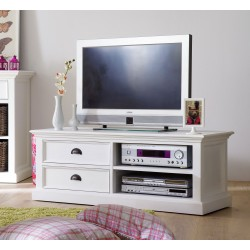 Halifax White Painted Mahogany Medium TV Unit