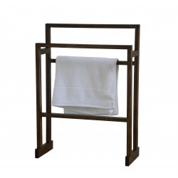 Wireworks Contemporary Dark Oak Towel Rail Mezza
