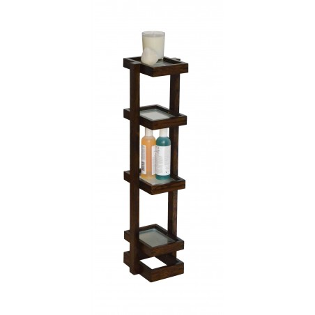 Wireworks Contemporary Dark Oak Washstand Mezza