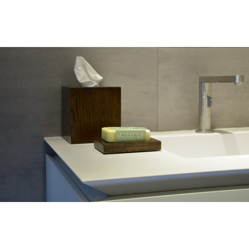 Wireworks Modern Solid Dark Oak Soap Dish Mezza