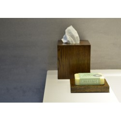 Wireworks Contemporary Dark Oak Tissue Box Cube Mezza