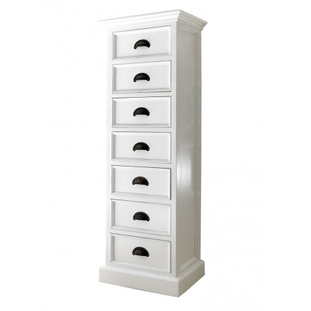 Halifax White Painted Mahogany 7 Drawer Wellington