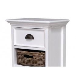 Halifax White Painted Mahogany Wellington With 5 Rattan Baskets