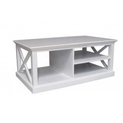 Halifax White Painted Mahogany Wood Coffee Table