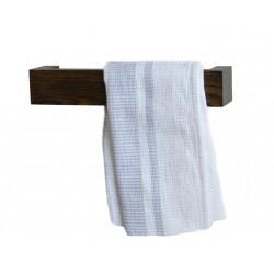 Wireworks Solid Dark Oak Hand Towel Rail 28cm