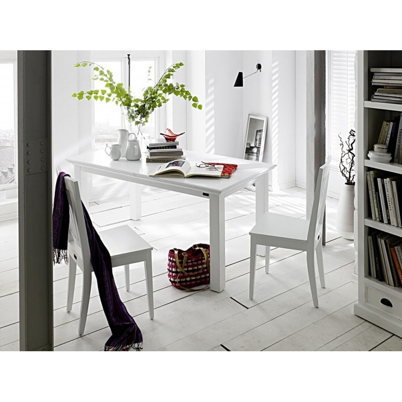 Halifax White Painted Mahogany Wood Dining Table 180 cm