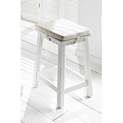 Viborg Painted Mahogany White Breakfast Table And 2 Stools