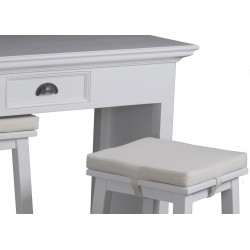 Halifax Painted Mahogany White Breakfast Table And 2 Stools