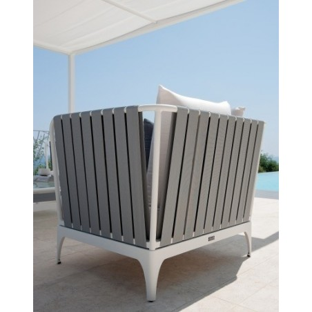 Stripe Luxury Outdoor Armchair By Talenti