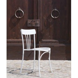 Talenti's Retro Italian Square Patio Table and 4 Chairs Set in White or Dove Grey - Free Cushions