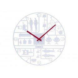 Karlsson Model Kit Wall Clock - White