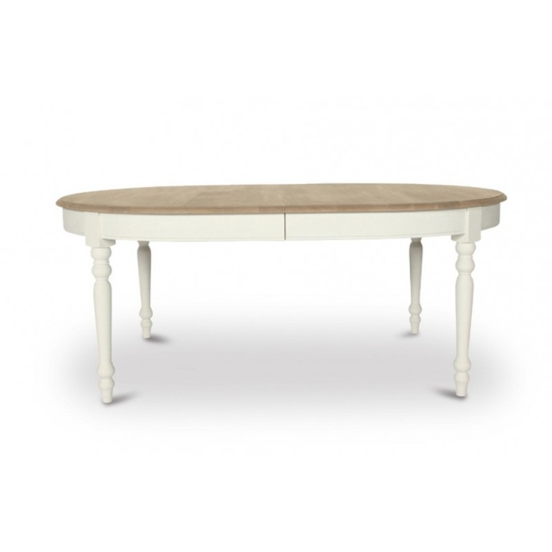 Versailles Extending Oak Oval Dining Table | Painted Black or White