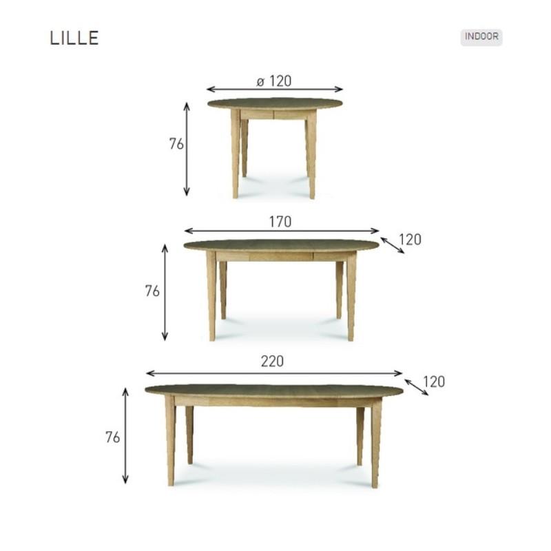 Vincent Sheppard LILLE Oval Extending Oak Dining Table 120 - 220cm