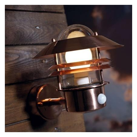 Blokhus Copper Outdoor Light With Sensor