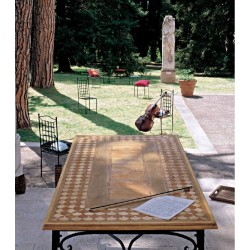 Veronese Italian Mosaic Outdoor Dining Table