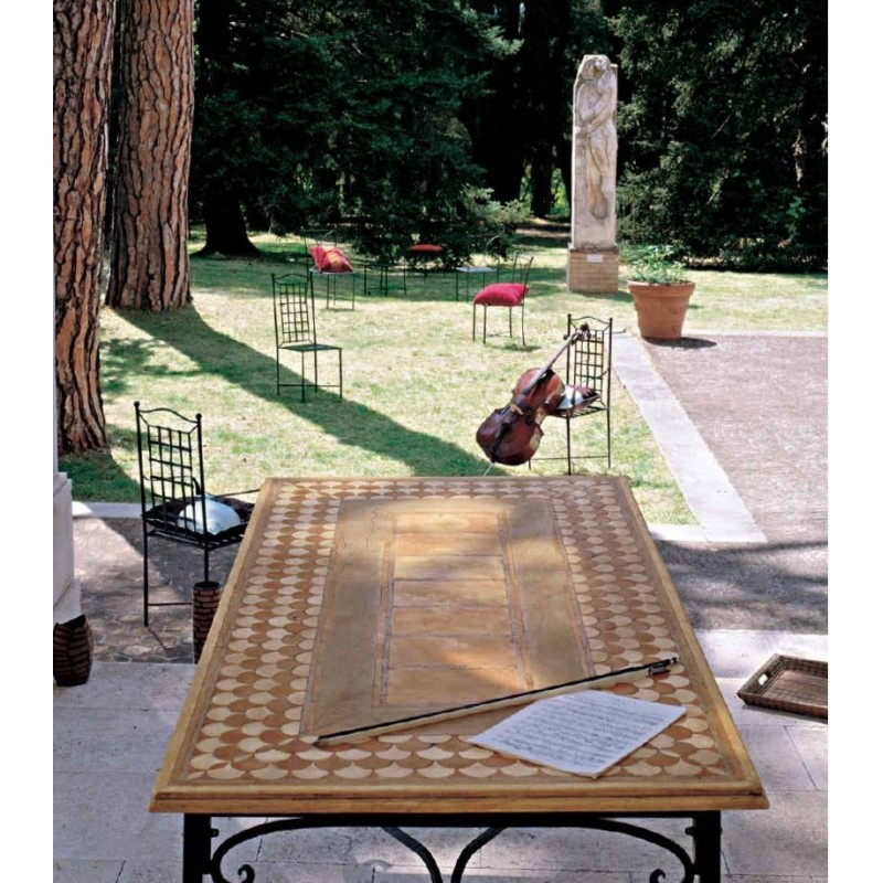 Empedocle Italian Mosaic Outdoor Dining Table