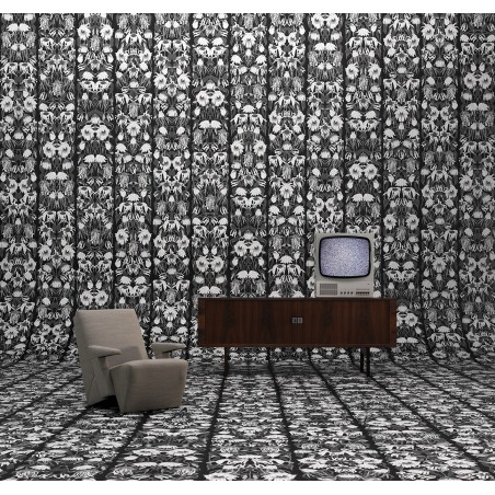 Studio Job Wallpaper Withered Flowers Black