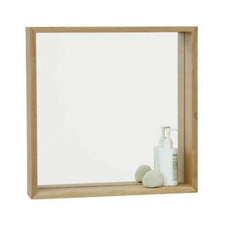 Wirework Mezza Mirror Shelf in Natural Oak