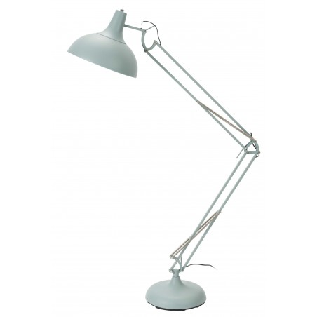 Stonehaven Spring and Lever Floor Lamp - Blue