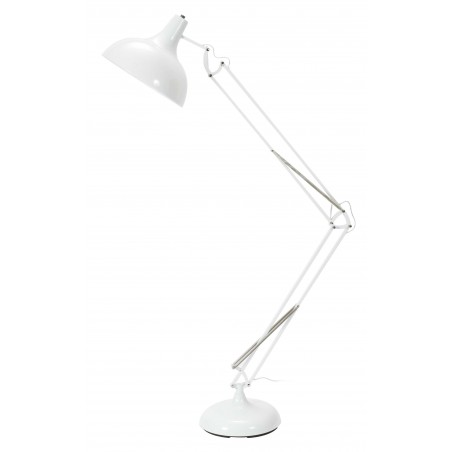 Stonehaven Spring and Lever Floor Lamp - White