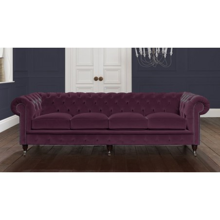 Italian Mulberry Velvet Chesterfield Sofa Any Colour 2 3 4 Seat