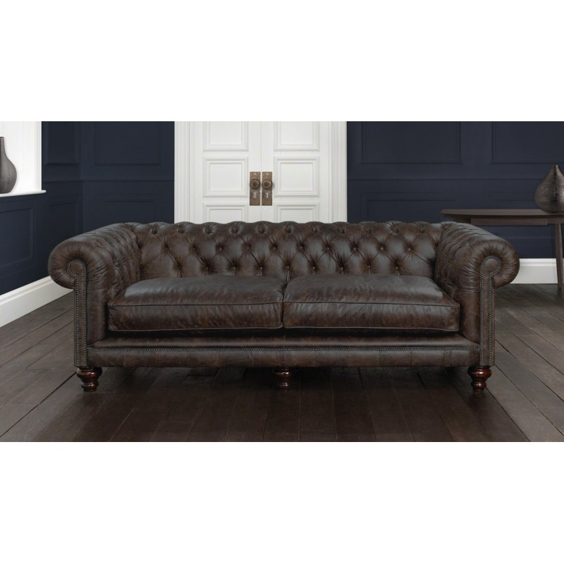St.Ives Leather Chesterfield Sofa