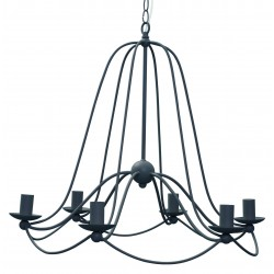 Balloon Painted Steel Chandelier | Dark Grey or Soft White