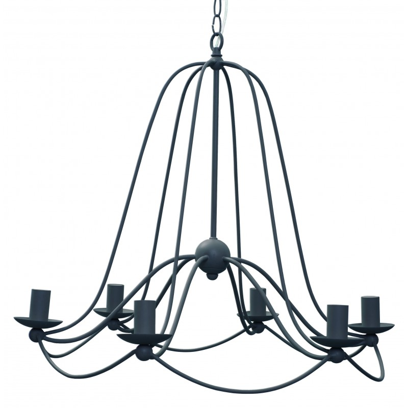 Painted Steel Chandelier | Grey White or Stone