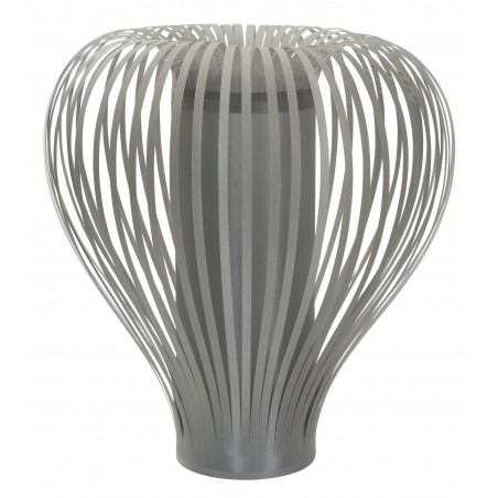 Contemporary Balloon Table Lamp and Shade | Grey or Taupe