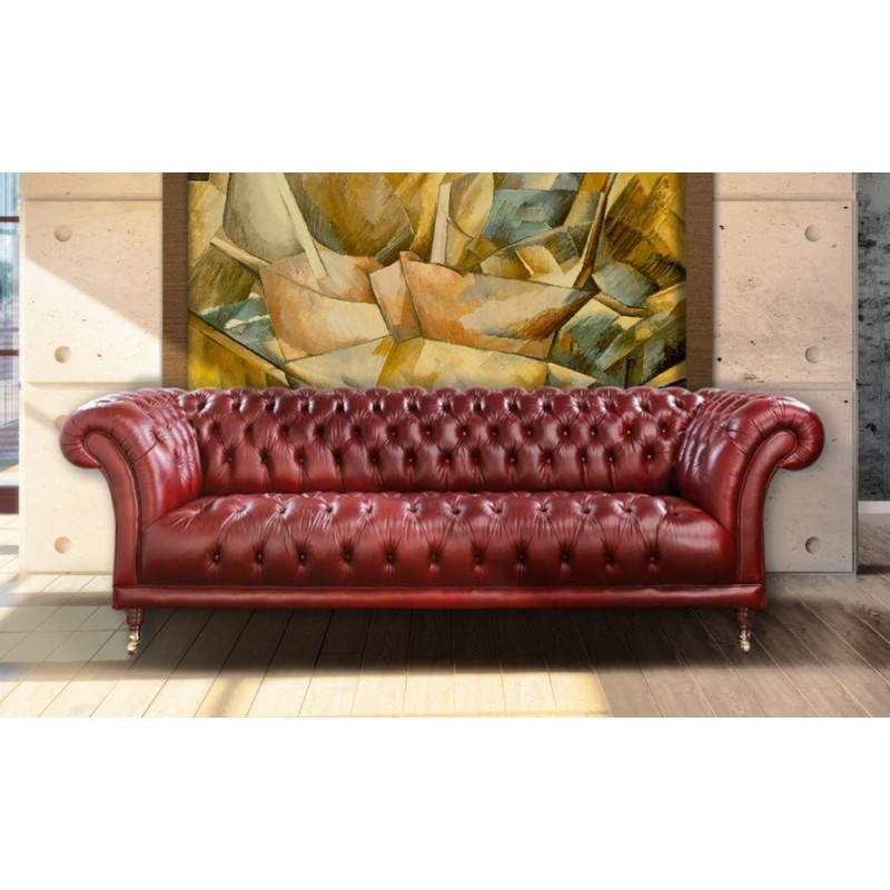 Fowey Chesterfield Sofa Elite Leather |Velvet