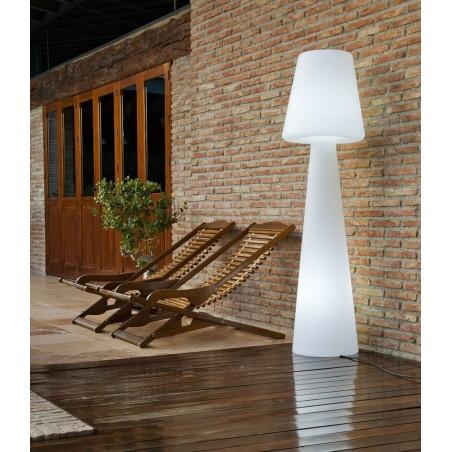 Newgarden Lola Outdoor Cable Floor Lamp White Light | Height 165cm