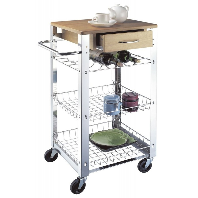 Carretto Wooden Kitchen Trolley
