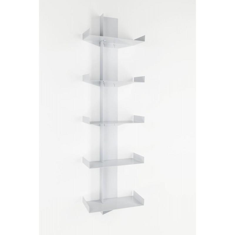 Durga White Metal Bookcase