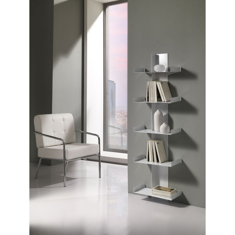 Durga White Metal Bookcase