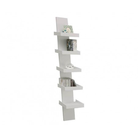 Scala White Lacquered Bookcase
